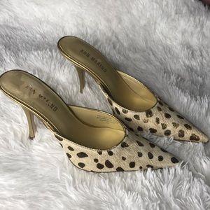 Ann Marino animal skin mules size 7.5